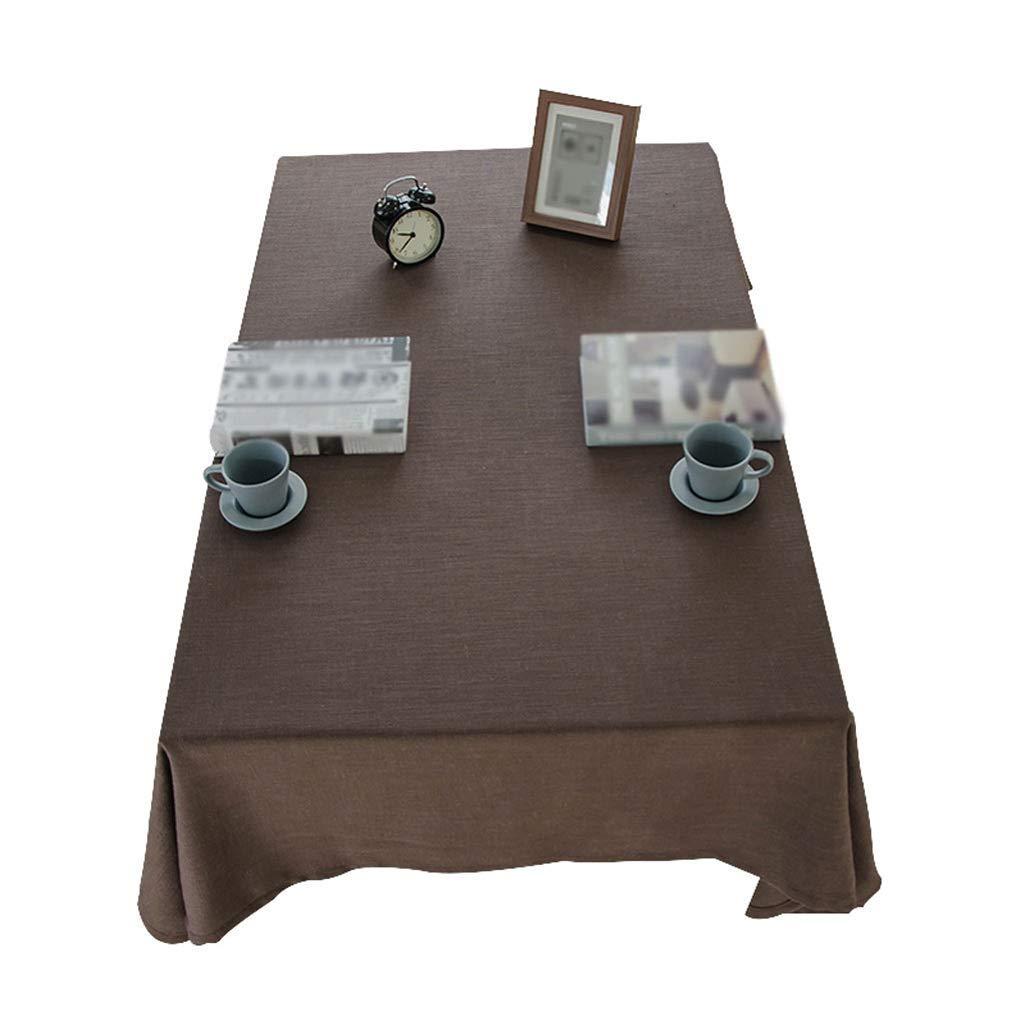 SCJ テーブルクロス - 無地のコーヒーテーブルクロスモダンなミニマリストのリネンの質感テーブルクロス - マルチサイズオプション(色:チョコレート、サイズ:130× 200cm) 130×200cm Chocolate B07S91V8DQ
