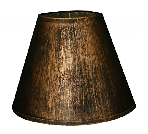 Royal Designs 11″ Hard Back Lamp Shade, Gold & Black, Antique Finish, 5 x 10 x 7.5 (DHB-1002-11GL)