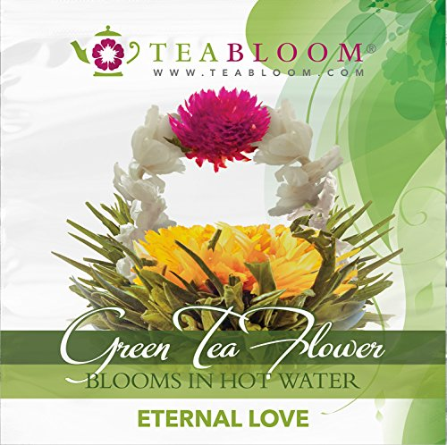 Teabloom Flowering Tea - Eternal Love and Rising Spring Blooming Teas - 2 Gourmet Tea Blossoms