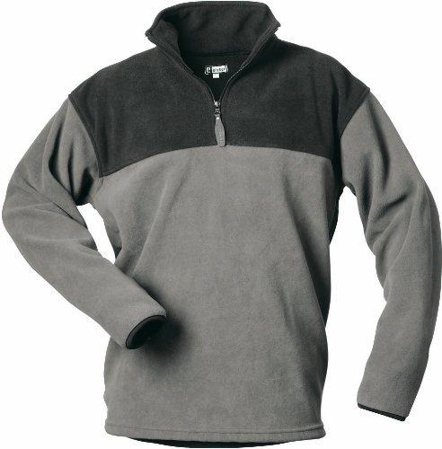 CRAFTLAND Fleece Shirt MERLIN - grau/schwarz abgesetz - Größe: 3XL