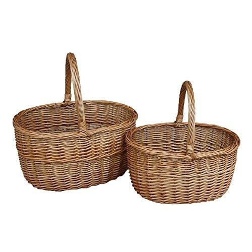 Set of 2 Unlined Double Steamed Hollander Shopping Basket