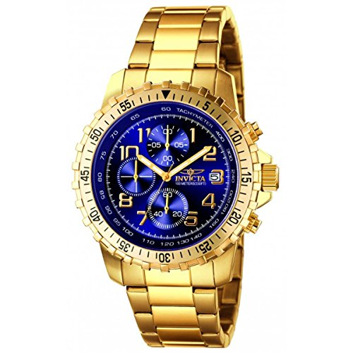 Invicta Men's 6399 II Collection Chronograph 18k Gold-Plated Stainless Steel Watch by Invicta