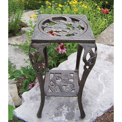 Oakland Living Hummingbird Table Plant Stand, Antique Bronze by Oakland Living