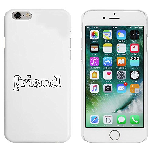 Blanc 'Friend' étui / housse pour iPhone 6 & 6s (MC00032790)