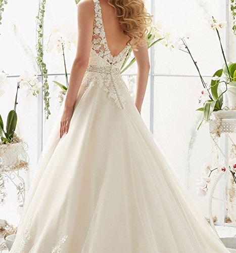 DIDIDD Che Sottile Scendeva Grandi Vestito Pizzo Dimensioni il in a XL Sposa da Bianca Di V Era Sottile rUrg7w