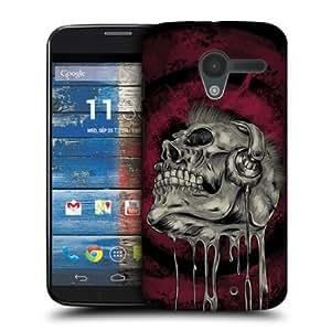 Quaroth - Head Case Music Head Skull Of Rock Snap-on Back Case Cover For Motorola Moto X