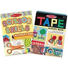 Melissa & Doug Scissor Skills and Tape Activity Books Set