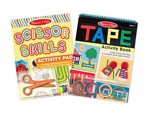 Melissa & Doug Scissor Skills and Tape Activity Books Set Doug Scissors Set
