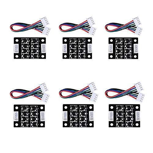 MYSWEETY 6pcs TL-Smoother Kit, módulo adicional 4 pines 4030 mm para impresora 3D Controladores de motor paso a paso Mayitr Piezas de impresora Accesorios Motor de eliminación de patrones