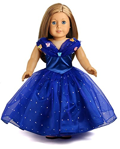 American Girl Doll Clothes Cinderella Inspired Costume Set for 18