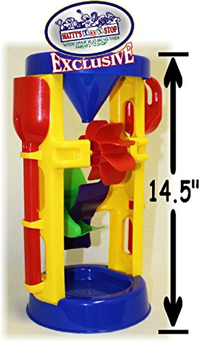 "Matty's Toy Stop 14.5"" Large Plastic Sand & Water Wheel with Shovel & Rake"