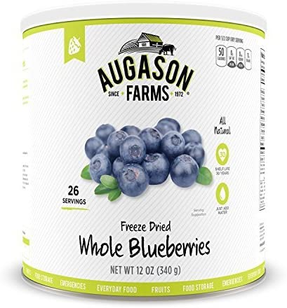 Augason Farms Freeze Dried Whole Blueberries # 10を、12oz by Augason Farms