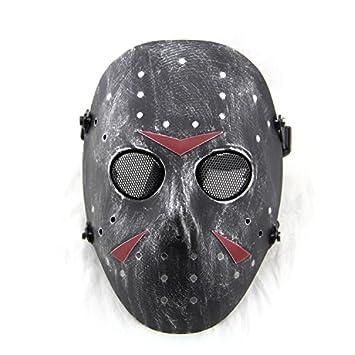 Worldshopping4U nueva cara completa protección máscara al aire libre Jason metal de malla para Tactical Paintball