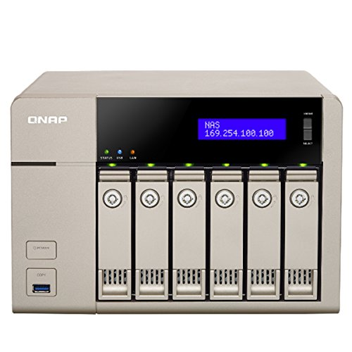Qnap Affordable 10 Gbe-Ready Golden Cloud Turbo vNAS (TVS-663-8G-US)