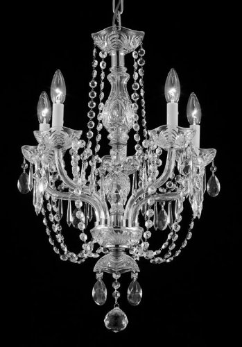 Swarovski Crystal Trimmed Chandelier! Chandelier 14″X20″ Chandeliers Lighting 5 Lights