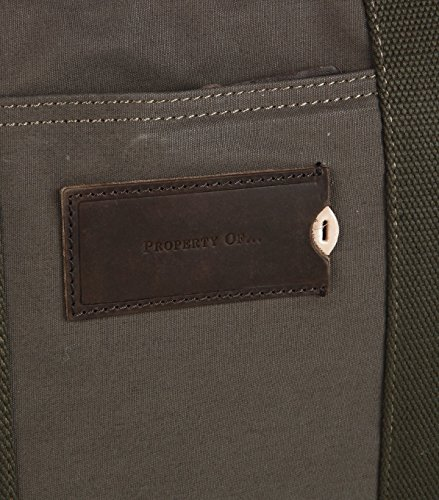 Property Of... Sac pour homme sac à main-Coton-Marron -  marron - Taille Unique