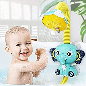 EARSOON Baby Bath Toys Electric Elephant Animal Sucker Electric Shower Rain Head Children Bathing Time Game Toy