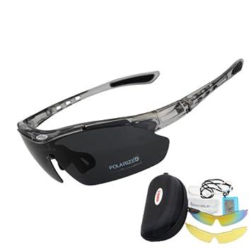 PENVEAT Gafas de sol de ciclismo 3 lentes polarizadas para hombre Sport Road Mtb Mountain Bike