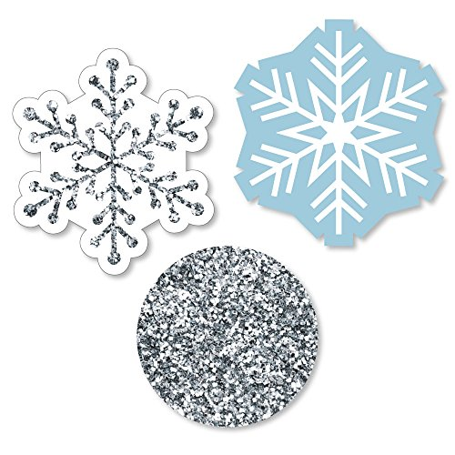 Big Dot of Happiness Winter Wonderland - Shaped Snowflake Holiday Party & Winter Wedding Cut-Outs - 24 (Winter Wonderland Prom Decorations)