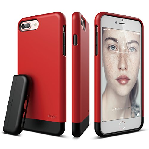 elago iPhone 7 Plus case [Glide][Red / Black] - [Multi-Option Case][Military Drop Test Certified][Sophisticated Shock Absorption] - for iPhone 7 (Nfl Molded Case)