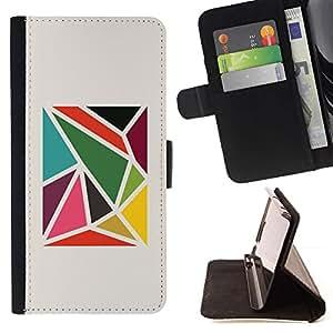 Momo Phone Case / Flip Funda de Cuero Case Cover - Modelo abstracto minimalista - Sony Xperia M2