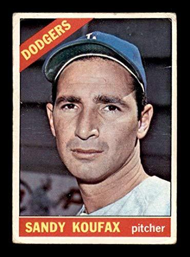 #100 Sandy Koufax DP HOF - 1966 Topps Baseball Cards Graded G/VG - Baseball Slabbed Autographed Vintage Cards