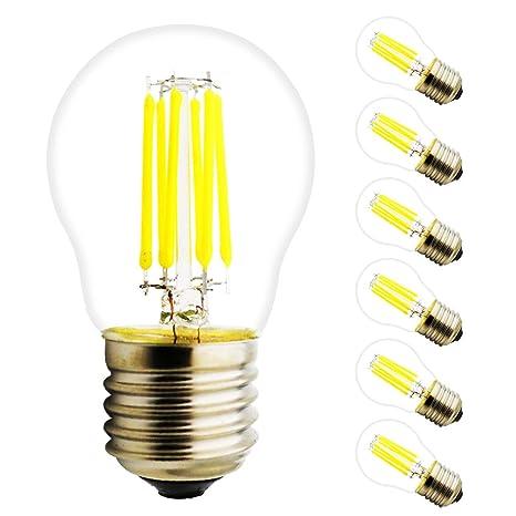 6 W G45 E27 Bombilla LED, 220 V, fresco Blanco 6000 K, 450
