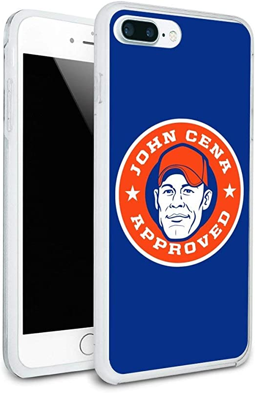 Amazon Com Wwe John Cena Approved Protective Slim Fit Hybrid Rubber Bumper Case For Apple Iphone 7 And 7 Plus
