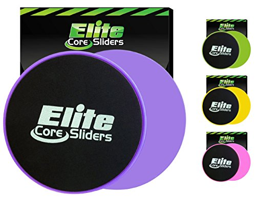Elite Sportz Exercise Sliders are Double Sided and Work Smoothly on Any Surface. Wide Variety of Low Impact Exercise s You Can Do. Full Body Workout, Compact for Travel or Home