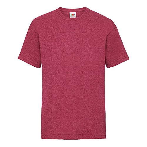 Short Sleeve Football T-shirt - Fruit of The Loom Childrens/Kids Little Boys Valueweight Short Sleeve T-Shirt (9-11, Vintage Heather Red)