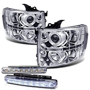 51aCFgPTFyL._SY300_ amazon com 2008 chevy silverado ccfl halo projector headlights 2008 Suburban Headlight Wiring Diagram at edmiracle.co