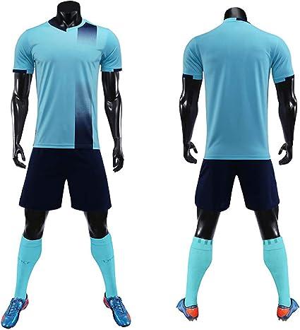 Amazon.com : BUY-TO Blank Adult Soccer Jersey Set Football Kit Men ...