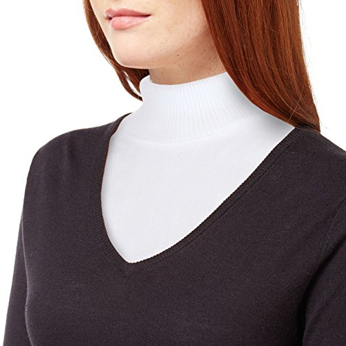 Trenton Gifts Knit Dickey Mock Turtleneck Warm and Comfortable (White)