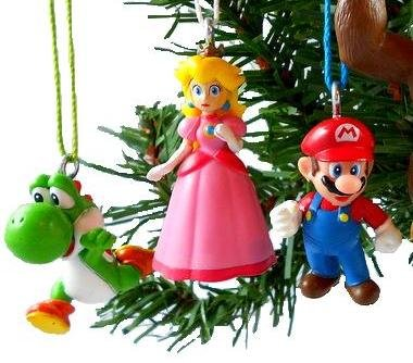 Amazon.com: Super Mario Brothers Christmas Ornaments Figurines Pack ...