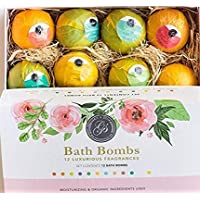 12 Pack Natural Aromatherapy Bath Bombs Christmas Best Bath Gift for Women Men
