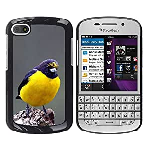 Cubierta protectora del caso de Shell Plástico || BlackBerry Q10 || Yellow Nature Feathers @XPTECH