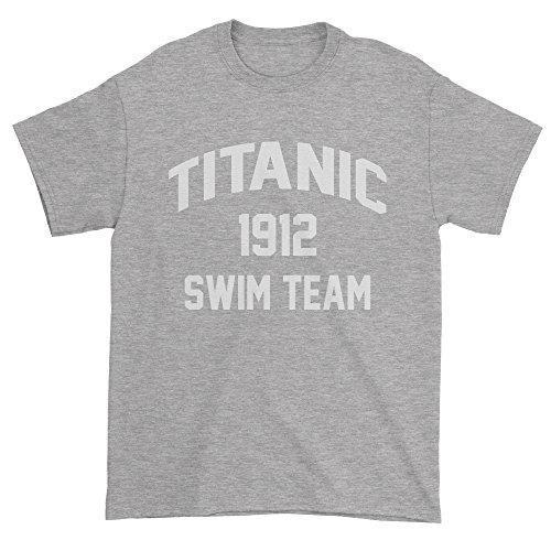 1912 Costumes The Titanic (Mens Titanic Swim Team T-Shirt XX-Large Heather Grey)