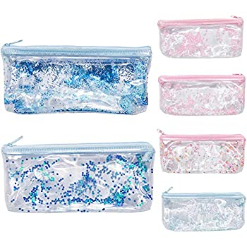 Amazon.com : Sameno Clear Pencil Pouch ✓ Cute Pink Pencil ...