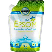 SaltWorks Ultra Premium Epsom Salt, Medium, 2 Pound