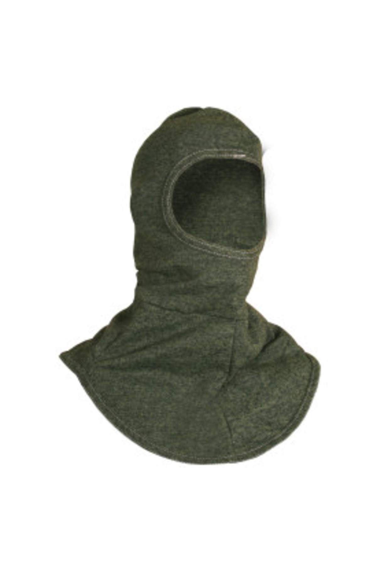National Safety Apparel H61RK FR Carbon Double Layer Hood, 27 Calorie, One Size, Green
