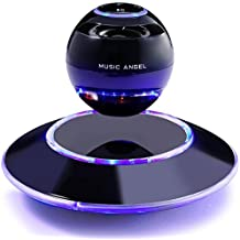 Levitation Bluetooth Speakers MUSIC ANGEL ? multi-color LED Portable Wireless Bluetooth Floating Levitating Maglev Speaker 360 Degree Rotating with Quality Sound