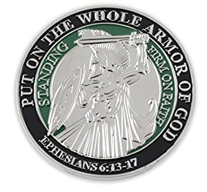 Put On The Whole Armor Of God EPH 6:13-17 Enamel 3D Challenge Coins
