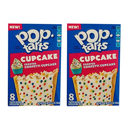 Pop-Tarts Cupcake, Breakfast Toaster Pastries, Frosted Confetti Cupcake, 13.5 oz. (Pack of 2)