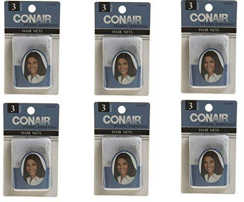 Conair Styling Essentials Brown Hair Net, 3 pieces per pack -- 6 per case.