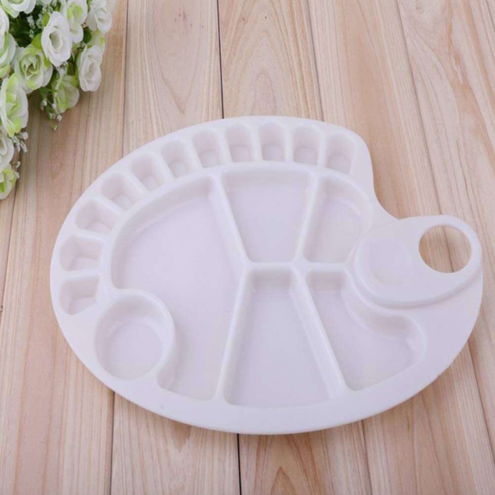 AOWA 1 Pc 17 Grid fish shape Watercolor Plastic Painting Tray Paint Mixing Palette