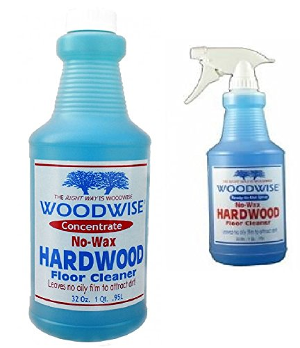 (Woodwise Hardwood Floor Cleaner Ready To Use 32 oz and Concentrate 32 oz)