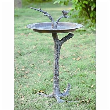 SPI Home 33303 Bird and Twig Sundial/Birdbath