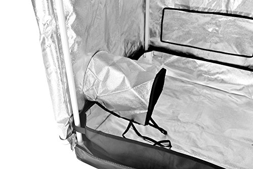 """51aCIQc0JsL - Grow Tent Indoor 2x2 Feet Not Include LED - Small Reflective Mylar Hydroponic/Hydro Waterproof Seedling Plant Growing Room for Grow Tents, Black 24""""x24""""x56"""""""