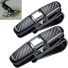 2 Unidades Gafas Portátiles para Visor de Coche Sun, FineGood Gafas de sol Gafas de Montaje con Clip de Tarjeta de Boleto - Negro