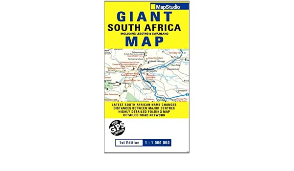 South Africa Road Map With Distances.Road Map Giant South Africa 9781770263284 Amazon Com Books